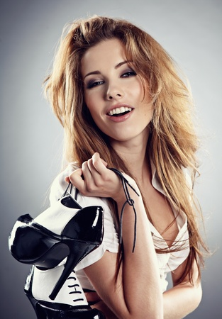 Young woman with shoes  photo