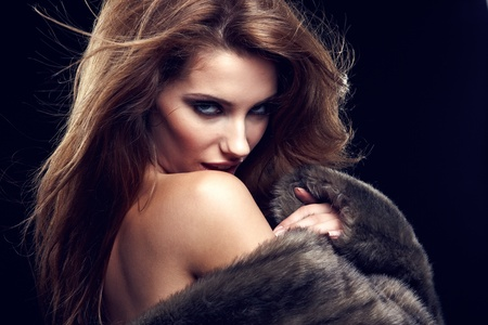 Portrait of wonderful woman in fur. Stock Photo - 9986755