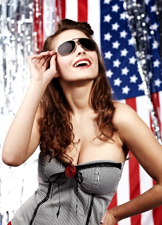 pin up vintage: Americana pin-up girl Archivio Fotografico