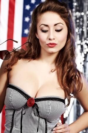 American pin-up girl photo