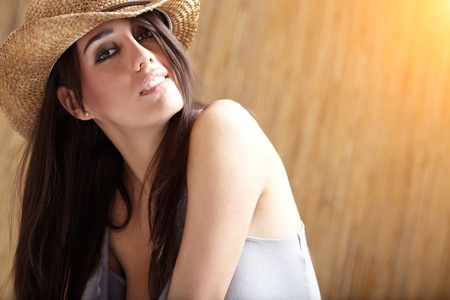 Beautiful Sexy  Cowgirl  photo