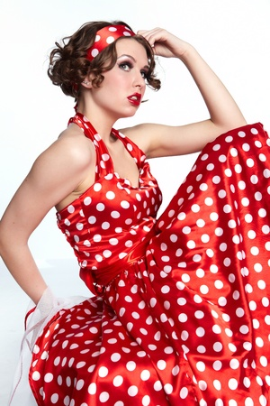 Pin-up Girl. Style Américain Banque D\'Images Et Photos Libres De ...