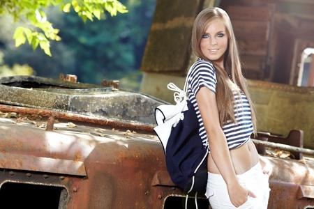 mariner: Sexy sailor woman on a ship wreck