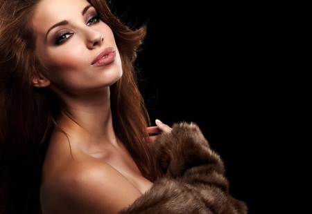 beautiful woman in a fur coat  Stock Photo - 10531406
