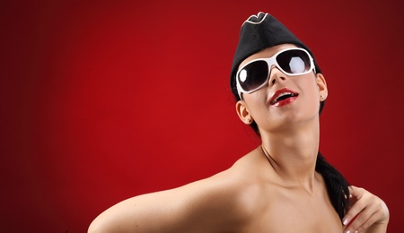 sexy stewardess Stock Photo - 10548374