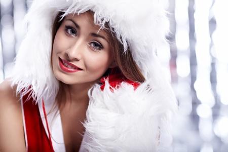 chica: Christmas woman