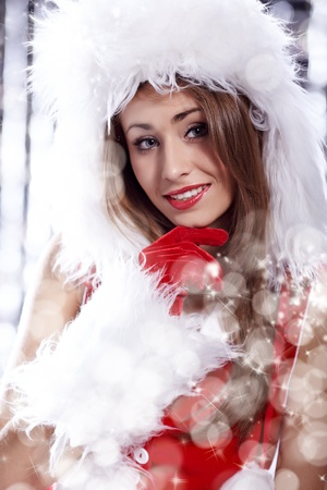 Christmas woman photo
