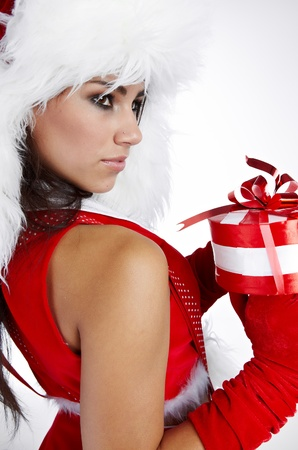 christmas woman with gifts box Stock Photo - 10625193