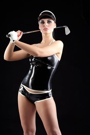 Golf in black photo