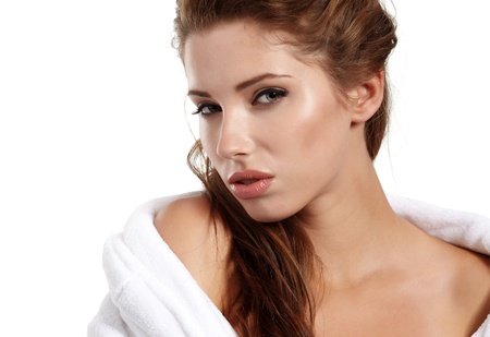 Portrait of beautiful woman before spa treatment  Stock Photo - 10653431