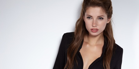 Portrait of a beautiful brunette woman. Fashion Photo.  photo