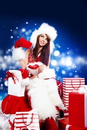 sexy santa m�dchen: sch�ne sexy M�dchen mit santa claus Kleidung