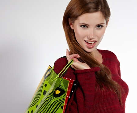 Woman and shopping photo