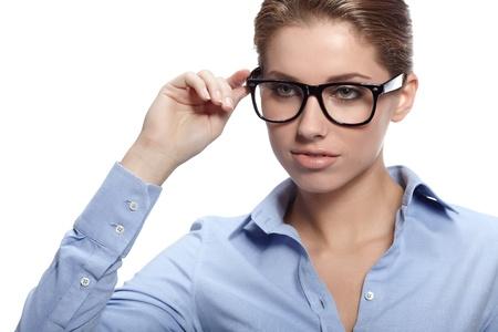 Business-Frau in Gläser