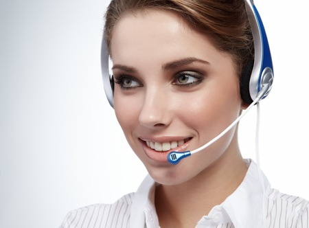 contact center: Customer service agent Stock Photo