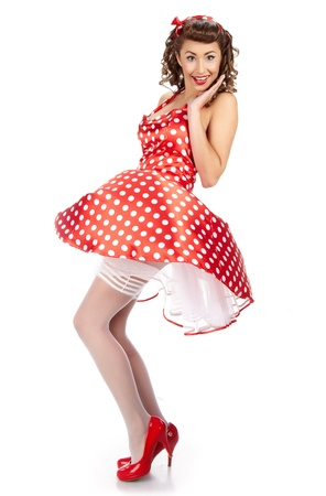 Pin-up girl. American style  Stock Photo - 10967200