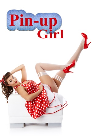 pin up model: Pin-up girl. American style