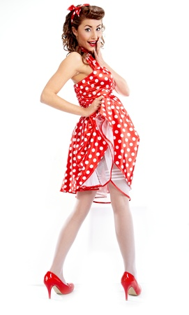 pin up: Pin-up girl. American style