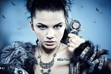 barbarian: Warrior woman. Fantasy fashion idea.