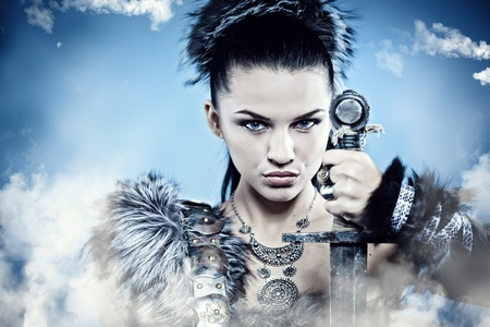 Warr woman. Fantasy fashion idea. Stock Photo - 11073015