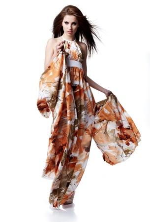 Beautiful young woman wearing summer dress  photo