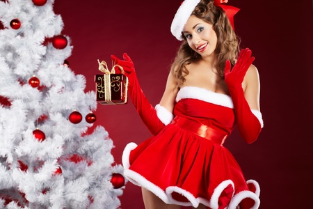 sexy santa m�dchen: christmas Frau