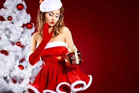 christmas woman  photo