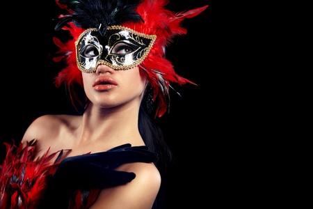 beautiful woman with mask  photo