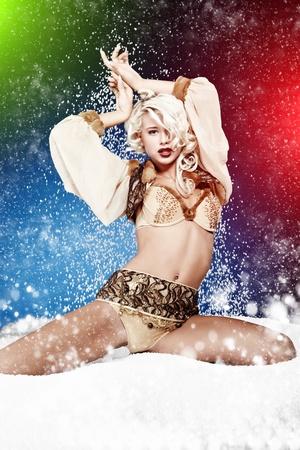 ice queen: Winter queen Stock Photo