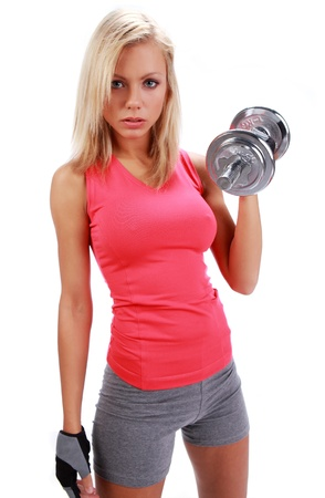 Healthy Fitness Woman Working Out, isolated shot