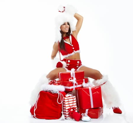 Christmas girl with gifts  Stock Photo - 11292202