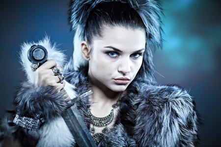 Warr woman. Fantasy fashion idea.  Stock Photo - 11292706