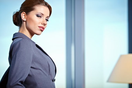 business woman in modern glass interior Stock Photo - 11622948