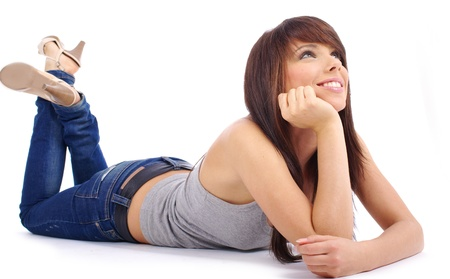Beautiful girl in blue jeans Stock Photo - 11623017