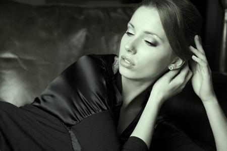 Art Portrait. Beautiful Woman.Luxury style  photo