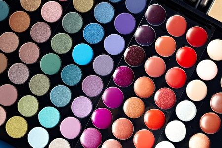 make up eyes: Make-up colorful eyeshadow palettes