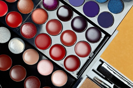 Make-up colorful eyeshadow palettes Stock Photo - 11800211