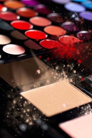 Make-up colorful eyeshadow palettes Stock Photo - 11800131