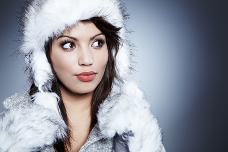 Winter Girl with beautiful make up photo