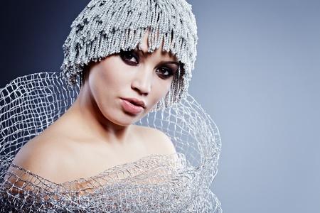 Winter Girl with beautiful make up Stock Photo - 11903221