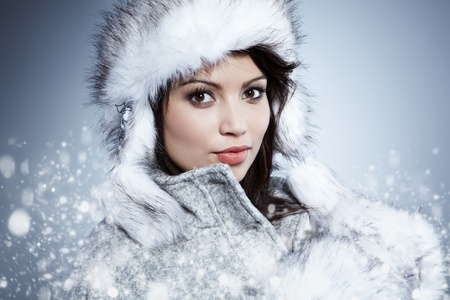 Smiling Winter Woman  photo