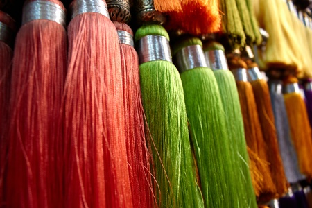 marocco: colored fringes, Marocco