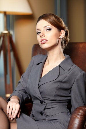 elegant businesswoman in a office inter  Stock Photo - 12350692