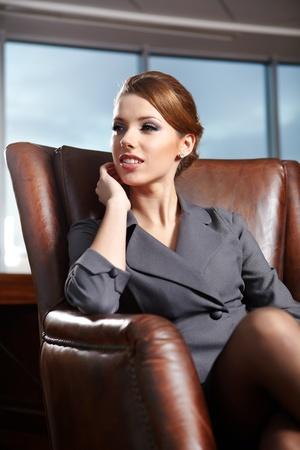 elegant businesswoman in a office inter  Stock Photo - 12350700