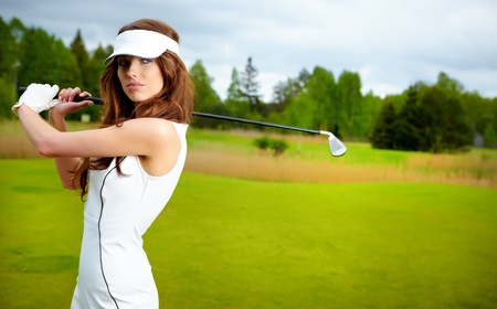 Womans Golf  Stock Photo - 12417524