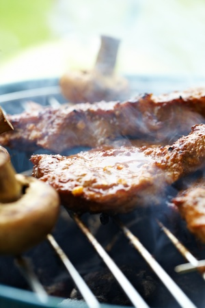 Steak and other Meat on BBQ  photo