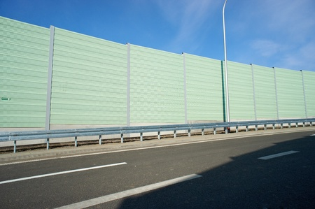Noise barrier wall on a highway Stock Photo - 12927184