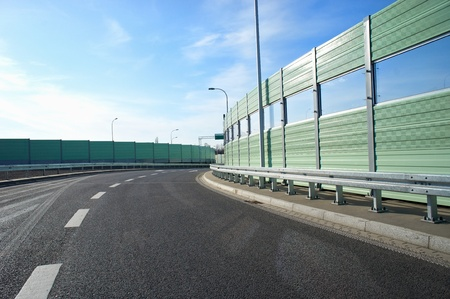 Noise barrier wall on a highway Stock Photo - 12927188