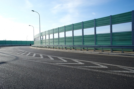 Noise barrier wall on a highway Stock Photo - 12927186