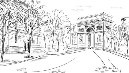 Rue à Paris - illustration